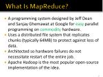 what is mapreduce