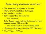 describing chemical reaction