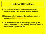 hints for lr problems