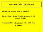 percent yield calculation