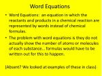 word equations