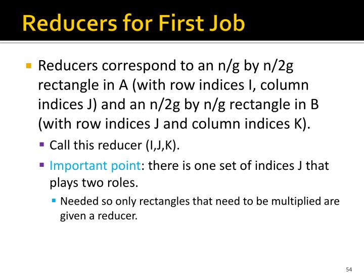 Reducers for First Job