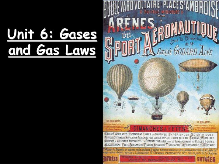 unit 6 gases and gas laws n.