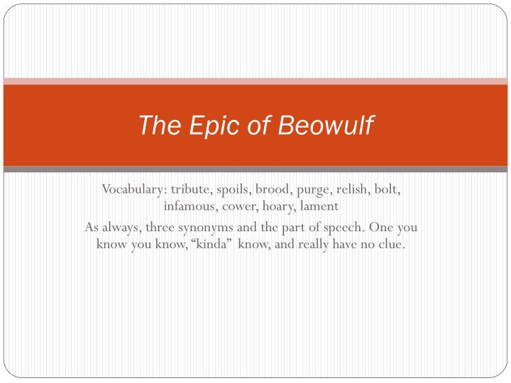 the epic of beowulf n.