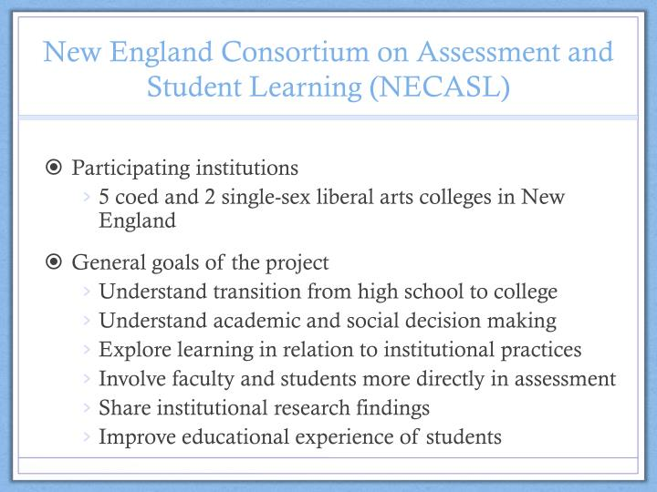 New England Consortium on Assessment and Student