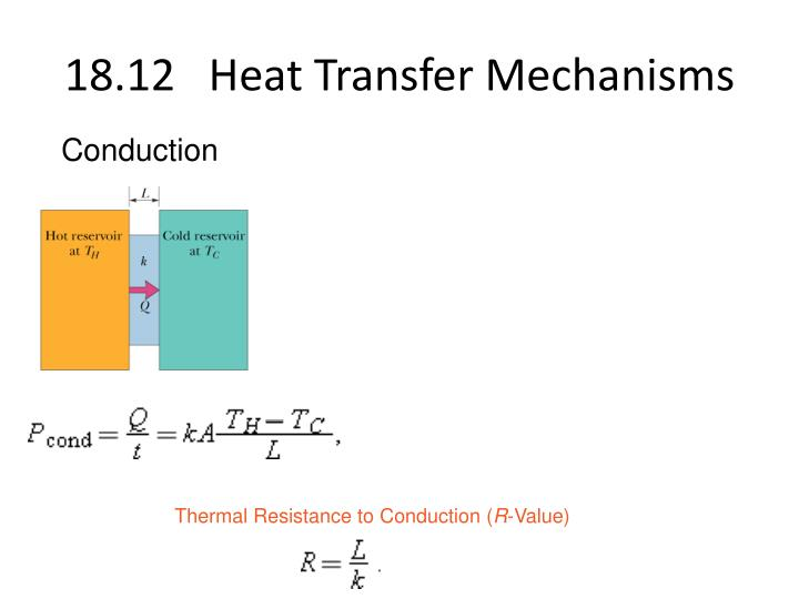 18.12   Heat Transfer Mechanisms