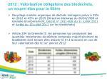 2012 valorisation obligatoire des biod chets un nouvel lan pour la fili re