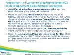 proposition 17 lancer un programme ambitieux de d veloppement du biom thane carburant