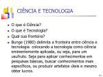 ci ncia e tecnologia