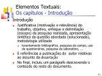 elementos textuais os cap tulos introdu o1