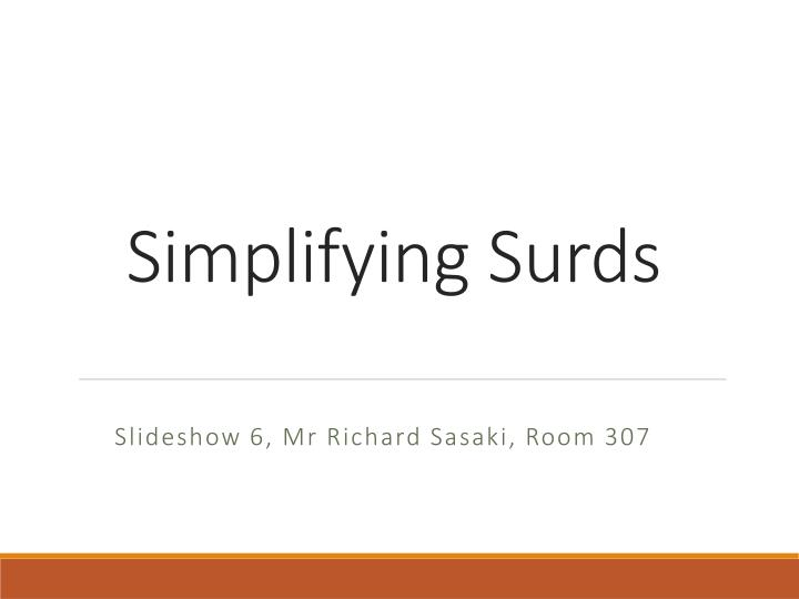 simplifying surds n.