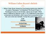 william cullen bryant s beliefs