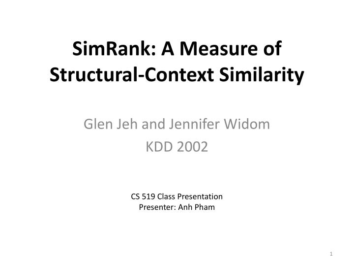 simrank a measure of structural context similarity n.