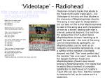 videotape radiohead