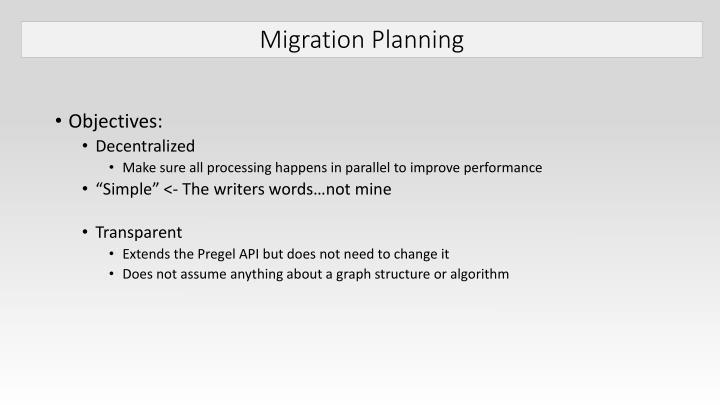 Migration Planning