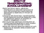 effect of transformational school leadership
