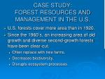 case study forest resources and management in the u s