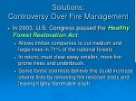 solutions controversy over fire management1