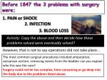 before 1847 the 3 problems with surgery were