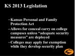 ks 2013 legislation