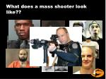 what does a mass shooter look like