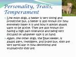 personality traits temperament