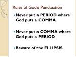 rules of god s punctuation