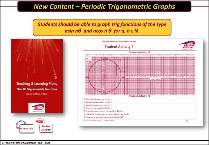 New Content – Periodic Trigonometric Graphs