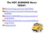 the hot burning news today