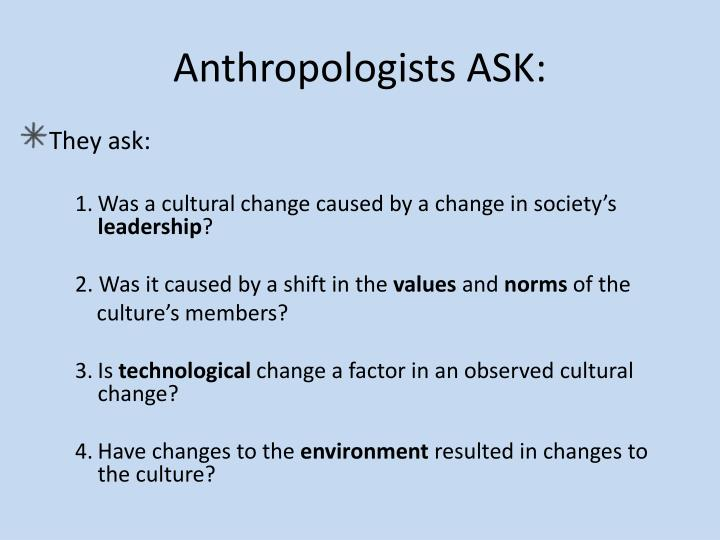 Anthropologists ASK: