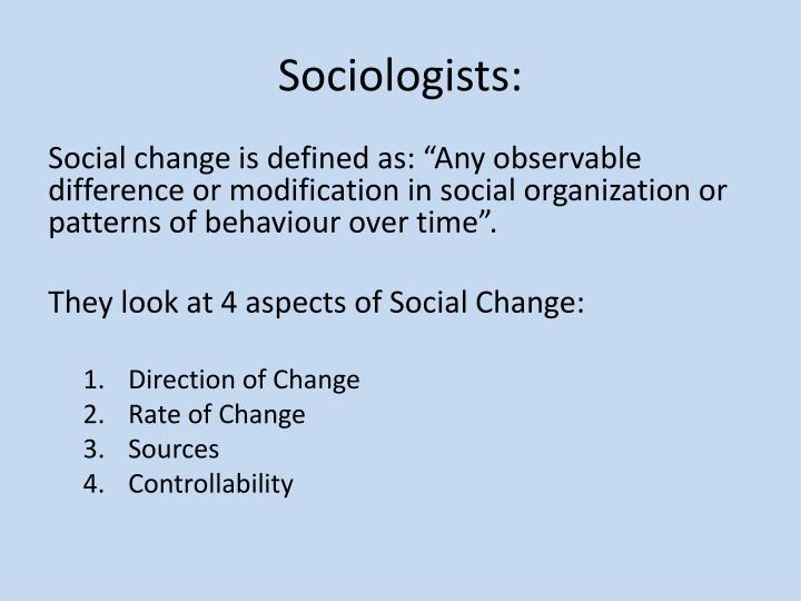Sociologists: