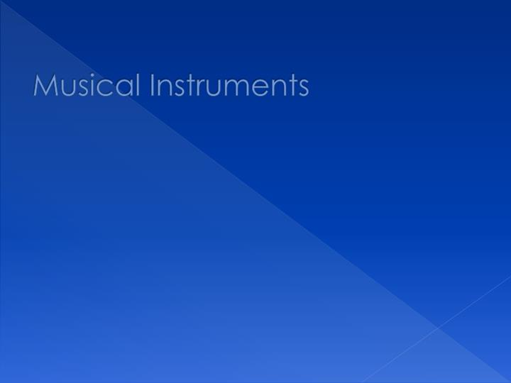 musical instruments n.