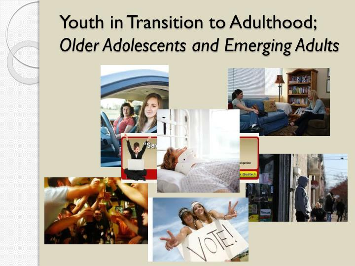 the problems teenagers face in transition to adulthood As teenagers mature, the prefrontal cortex, the area of the brain responsible for reasoning, planning, and problem solving, also continues to develop (goldberg, 2001) and myelin, the fatty tissue that forms around axons and neurons and helps speed transmissions between different regions of the brain, also continues to grow (rapoport et al, 1999.