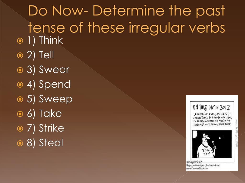 spend verb tenses