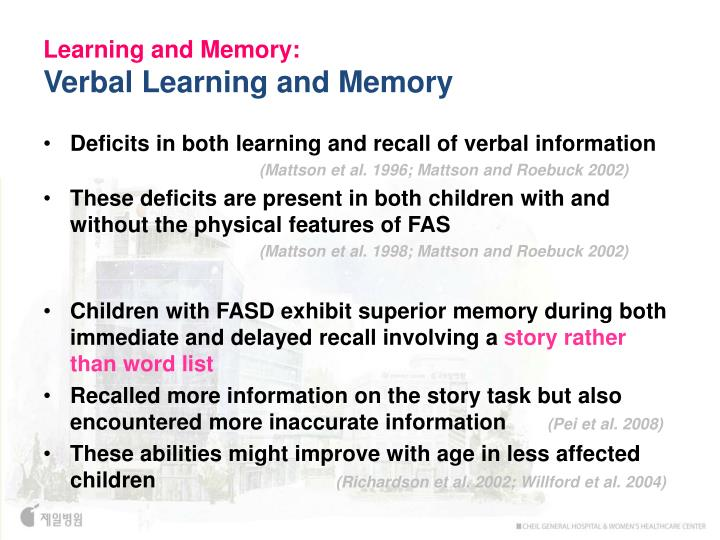 Learning and Memory: