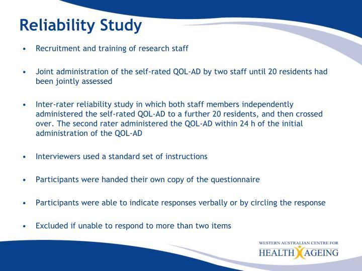 Reliability Study