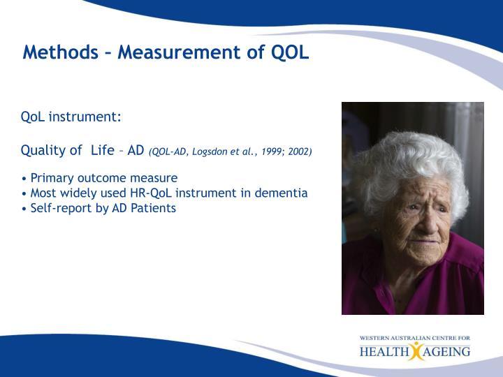 Methods – Measurement of QOL