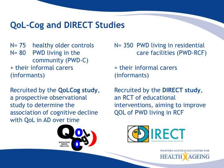 QoL-Cog and DIRECT Studies