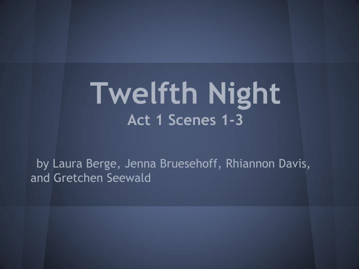 twelfth night act 1 scenes 1 3 n.