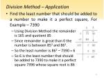 division method application1