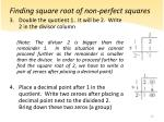 finding square root of non perfect squares1