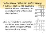 finding square root of non perfect squares4