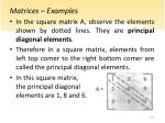matrices examples