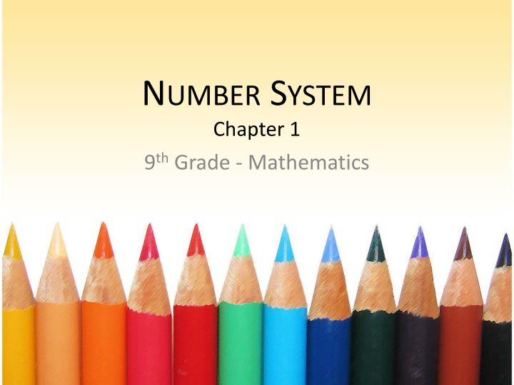 number system chapter 1 n.
