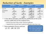 reduction of surds examples