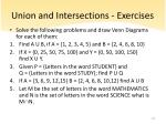 union and intersections exercises