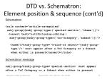 dtd vs schematron element position sequence cont d1