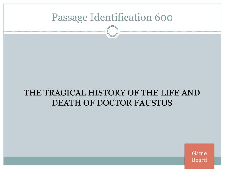 Passage Identification 600