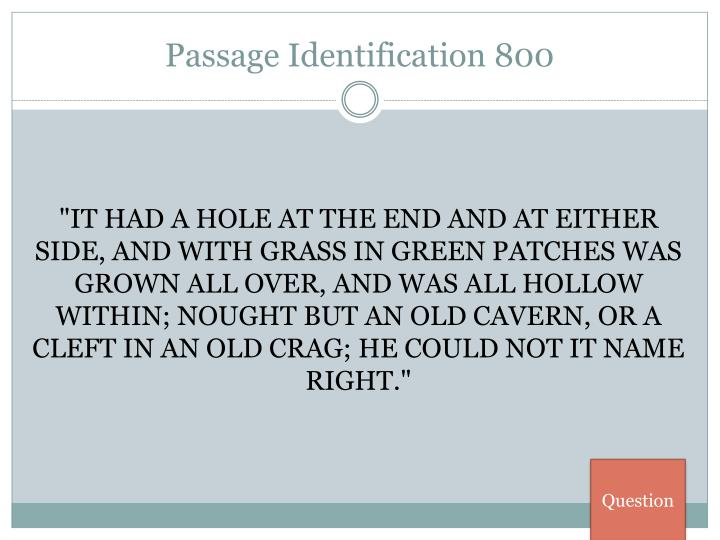 Passage Identification 800