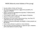 mody maturity onset diabetes of the young